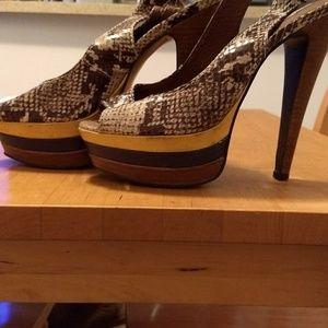 Steve Madden snakeskin heels.